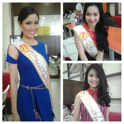 some of the candidates of Ms. Chinatown Philippines 2013
