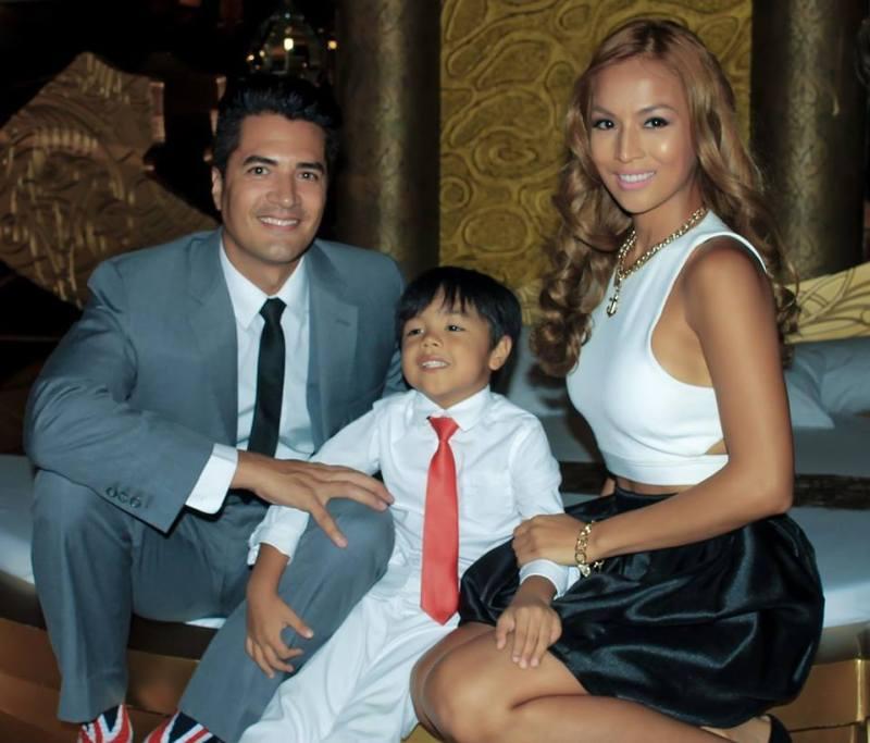 Celebrity Couple Troy Montero, Aubrey Miles and their son Hunter. Photo Credit: Victoria Court
