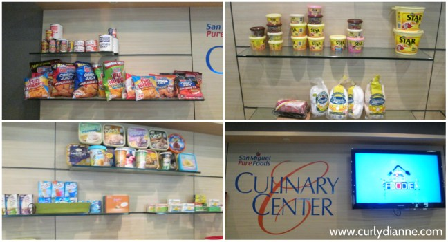 Some of the San Miguel Pure Foods products spotted in their Culinary Center