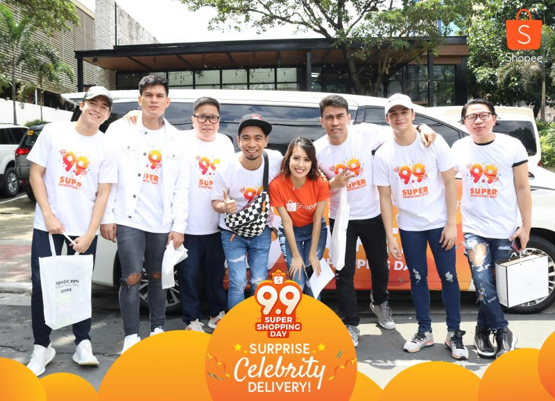 It's Showtime hosts Teddy and Jugs; Hashtags dance group's Zeus Collins and Jameson Blake; comedian and host, Ramon Bautista; designer, Avel Bacudio; and actor, Kyle Velino