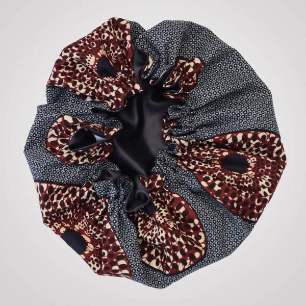 Bonnet satin wax elastisch IRIS curly nights