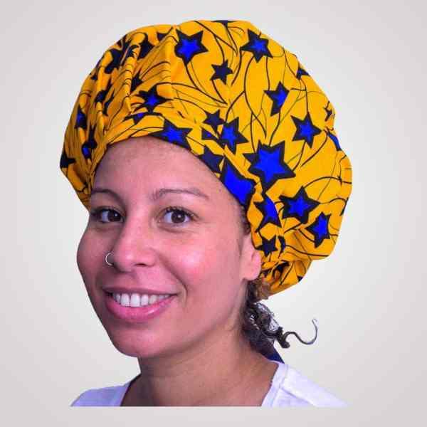 satin wax bonnet schlafhaube curly nights blue star anpassbar premium