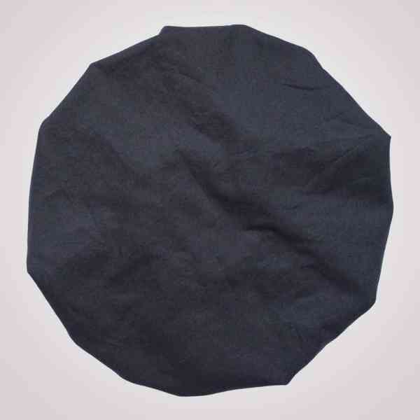 bonnet de nuit satin bleu marine uni curly nights