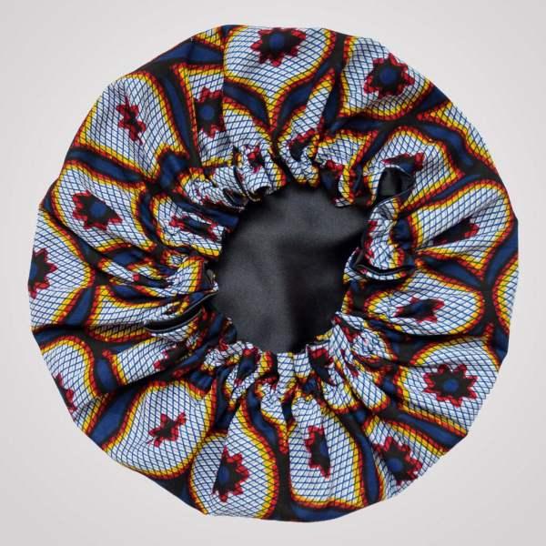 bonnet élastique satin wax curly nights arabesque