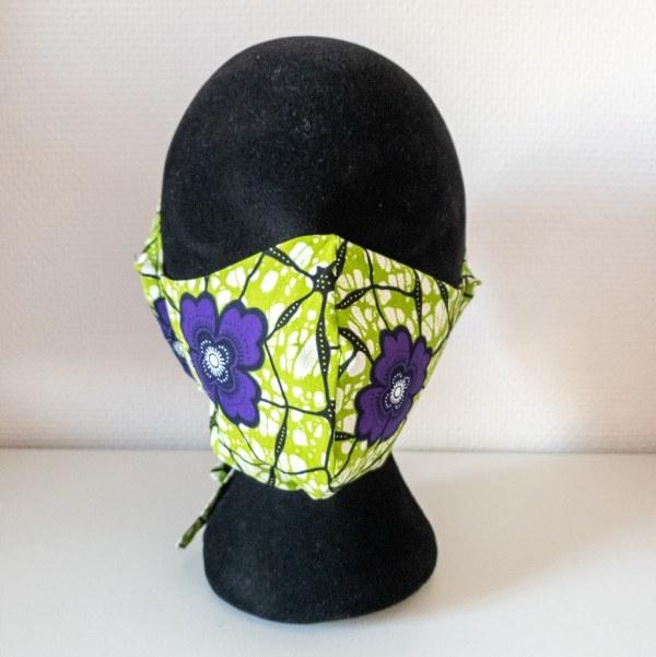 masque anti-projection lavable réglable coton wax coronavirus covid-19 protection visage nez bouche GARDEN