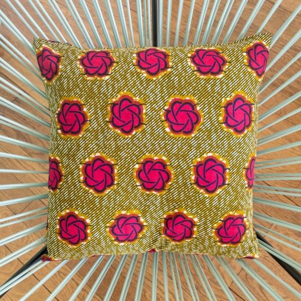 housse de coussin 35 x 35 cm satin wax pour canapé fauteuil décoration curly nights FLORA