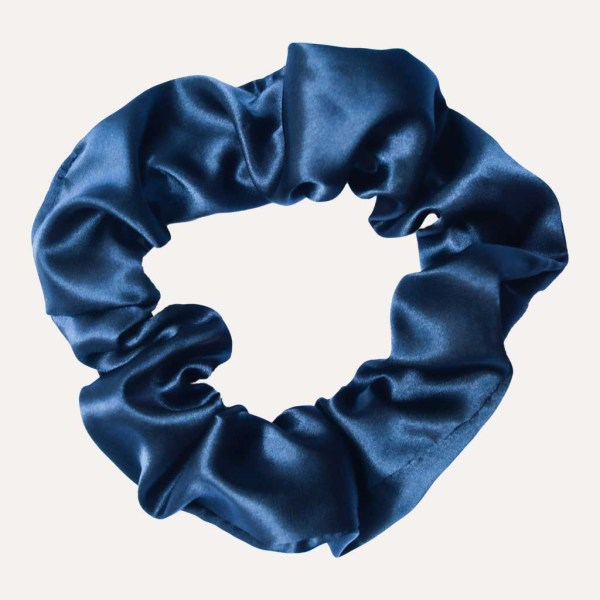 chouchou satin xxl curly nights bleu marine