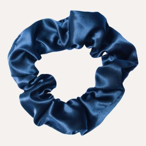 scrunchie xxl satin curly nights marineblau