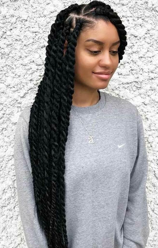 senegalese jumbo braids, tresses sénégalaises, coiffures protectrices, braids, mèches, cheveux bouclés, cheveux crépus, cheveux texturés