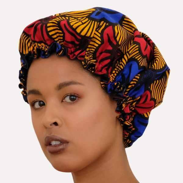 bonnet satin wax nuit élastique curly nights cheveux bouclés crépus HONEYMOON