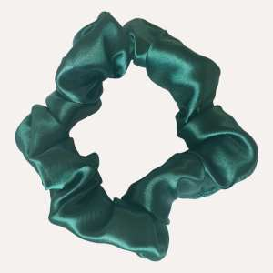 Scrunchie satin XXL vert mousse curly nights