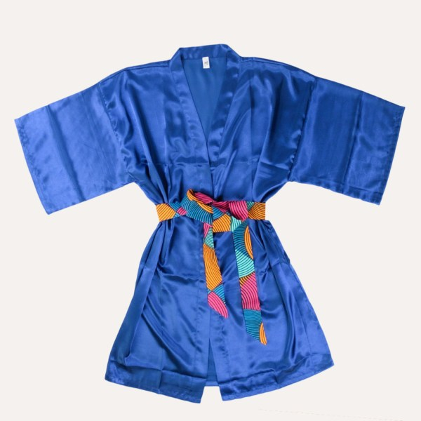 kimono satin ceinture wax masque de nuit curly nights arlequin