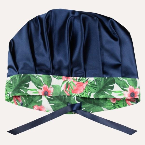 Bonnet de nuit réglable satin coton boucles crépus cheveux frisés curly nights FLAMINGO