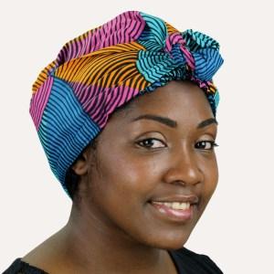 satin turban foulard curly nights ARLEQUIN
