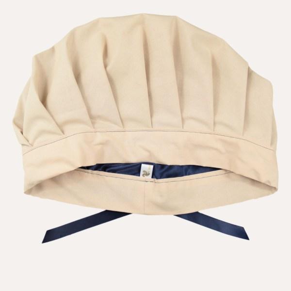satin bonnet curly nights schlafhaube locken krause beige handmade