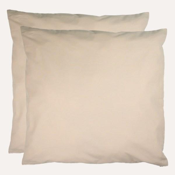 taie d'oreiller satin coton beige uni fait main en france curly nights