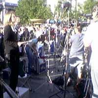 Journalists at Trafalgar Square