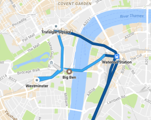 A day in the centre of London tracked by Google
