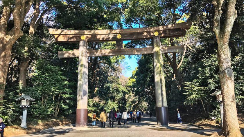 Meiji Shrine in Shibuya, Tokyo.