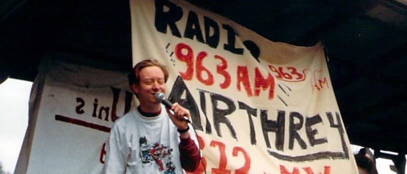 Jon on the Radio Airthrey float 1993