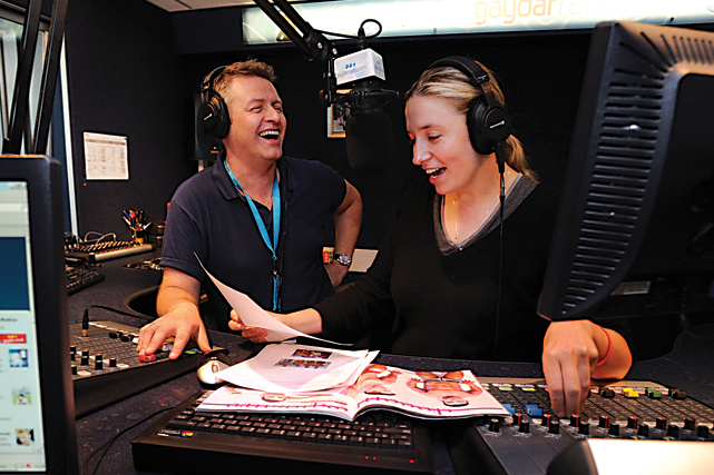 Neil and Debbie at Breakfast on Gaydar Radio