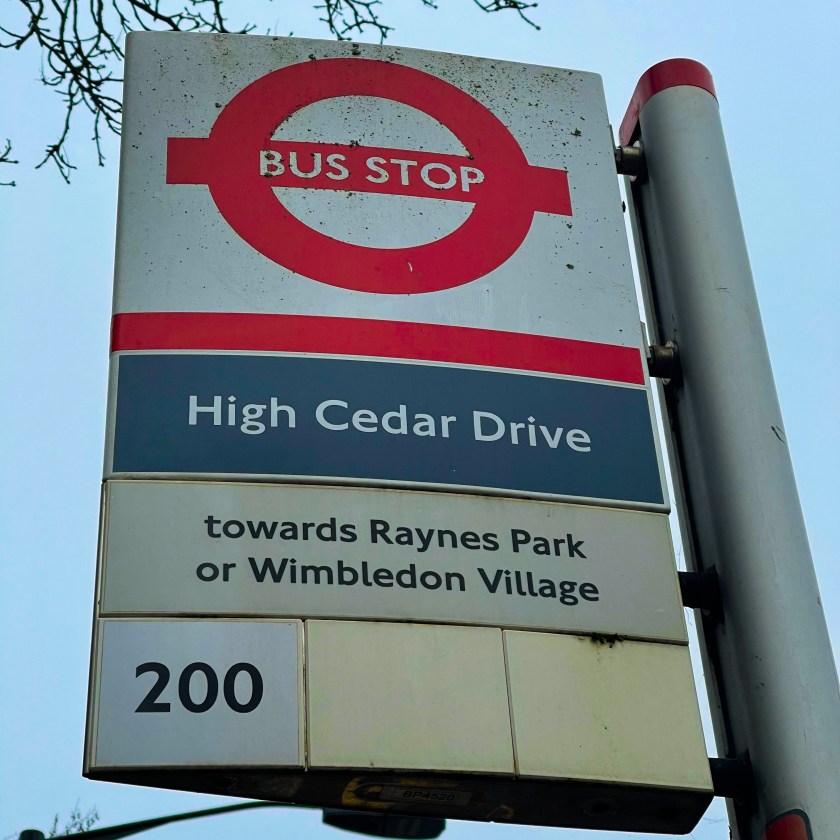 High Cedar Drive Bus Stop