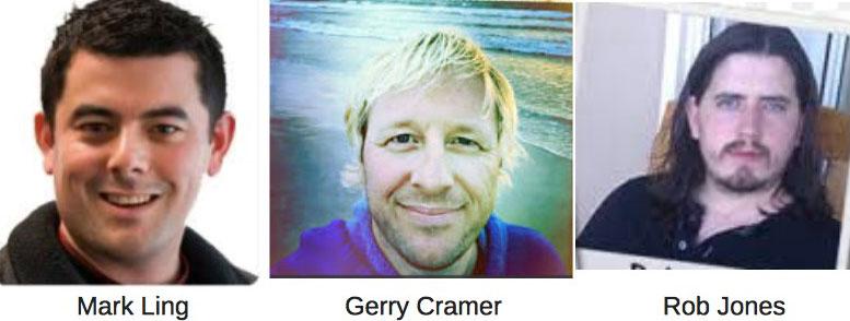 Mark Ling, Rob Jones and Gerry Cramer