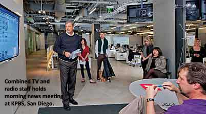 Staff meets in new KPBS newsroom