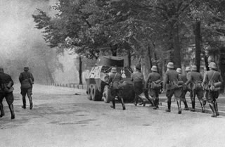 During the September campaign, there were many acts of sabotage organized by the Germans
