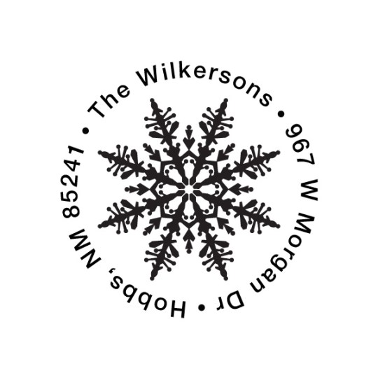 elegant snowflake round self