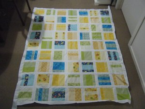Quilt top all sewn together