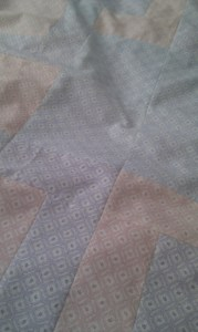 Close up of the fabric and layout