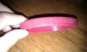 Make it a habit! wristband