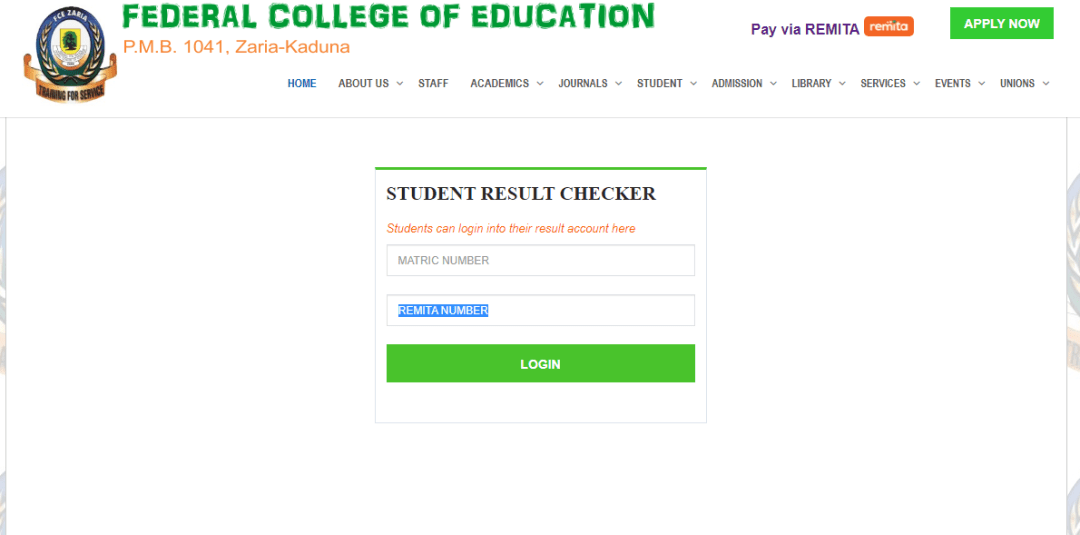 How to Check FCE Zaria NCE Results