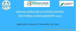 UNILAG African Cluster Centre Scholarship