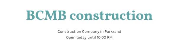 BCMB Construction