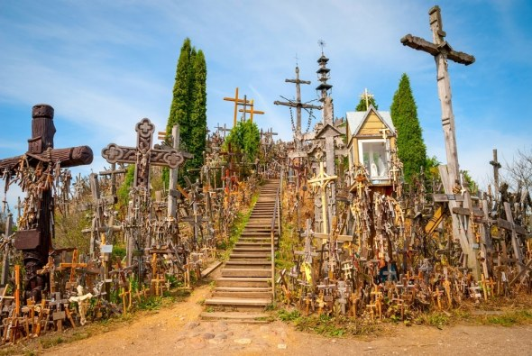 Wonder at the Siauliai Hill of Crosses