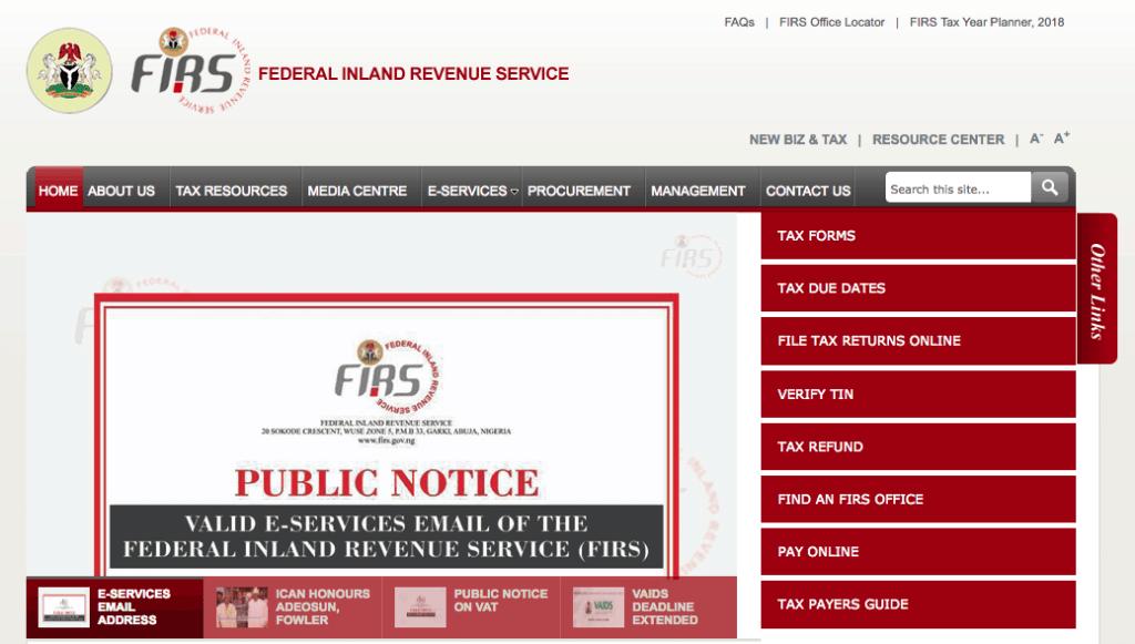 FIRS Recruitment 2021/2022 Application Form Portal