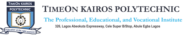 Timeon Kairos Polytechnic Courses and Requirements