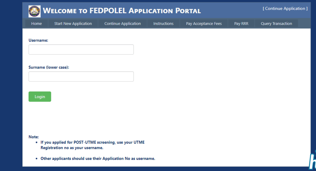 Steps to Check FEDPOLEL Post UTME Screening Result