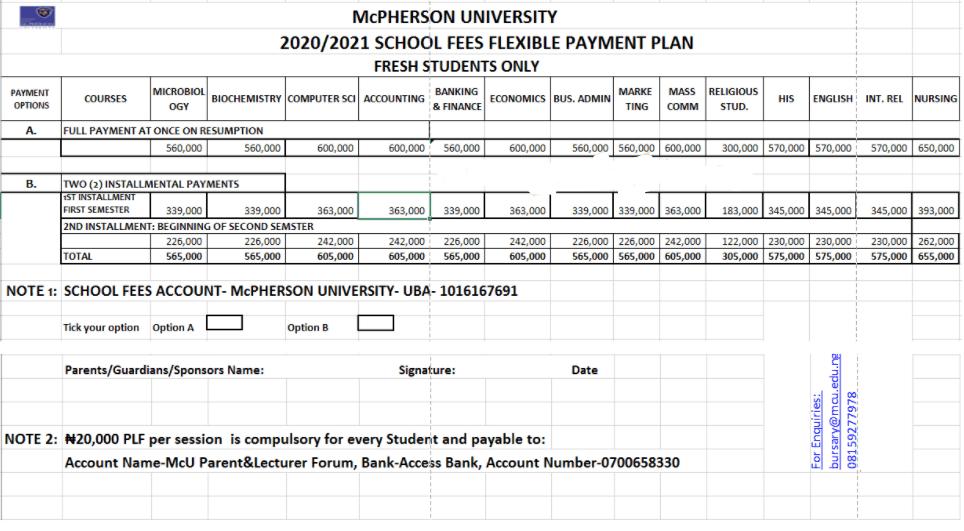 Mcpherson UniversitySchool Fees3