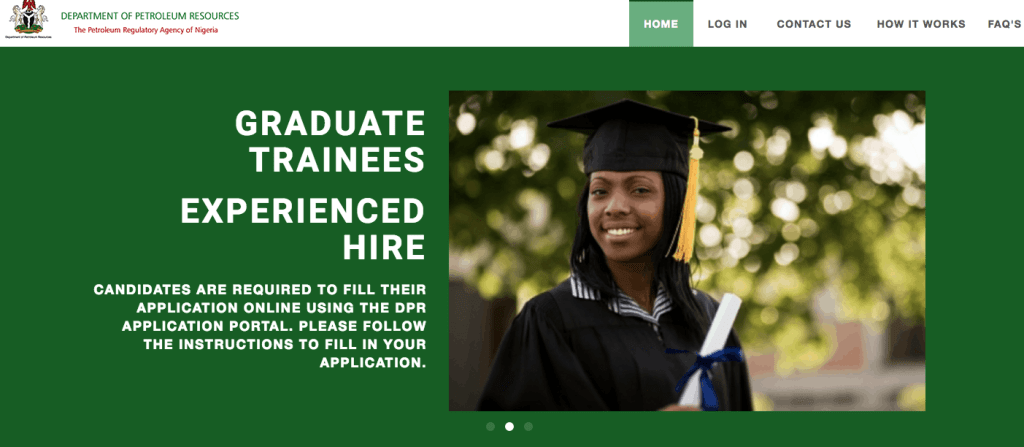 DPR 2021/2022 Recruitment Application Portal Form Update