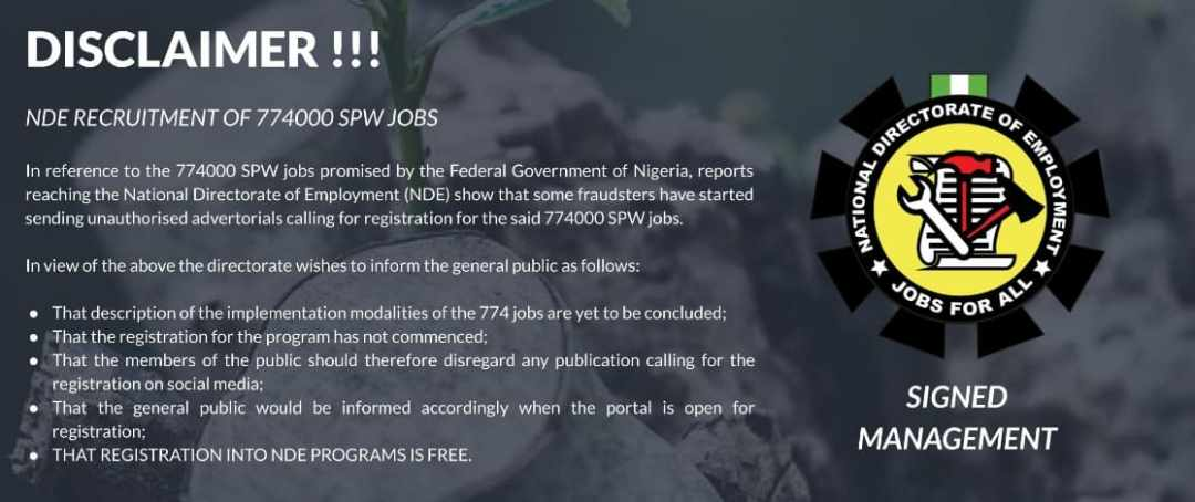 NDE Recruitment Portal 2021 See Latest Application Update