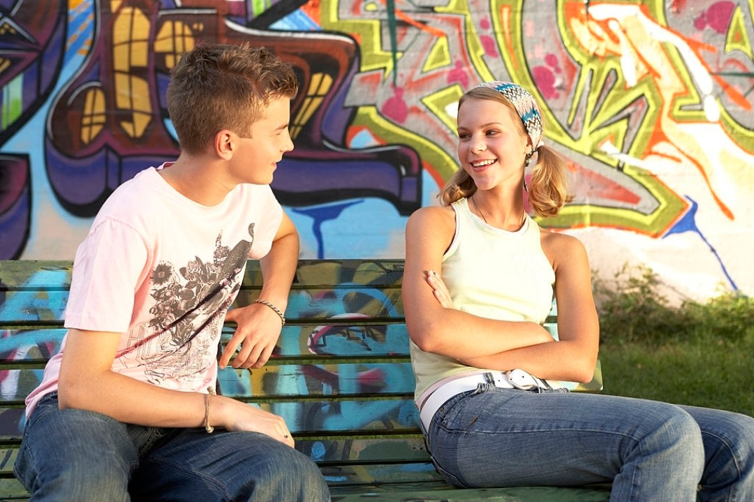 Guy and a Girl Talking