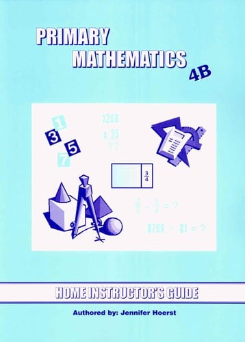 Primary Math Home Instructor's Guide 4B US Edition by Singapore Math
