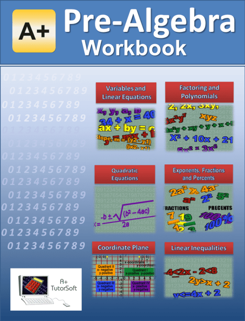 small resolution of Pre-Algebra Workbook from A+ Interactive Math - Curriculum Express