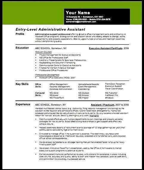 Creative Resume Assistant Principal Free Samples