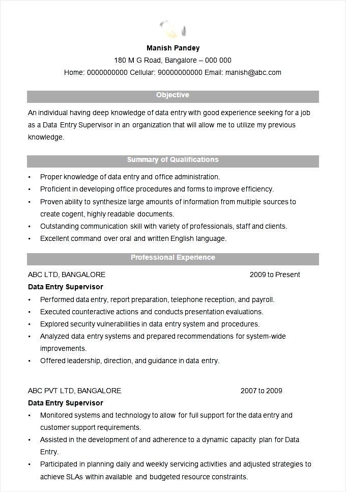 Resume Examples For Construction Supervisor Sample Of