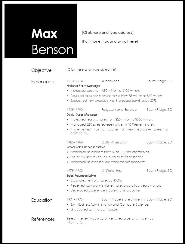 Open Office Resume Template Free Doc Format - Free image on ...