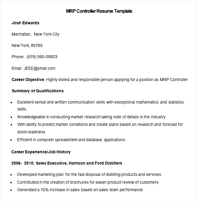 Mrp Controller Cover Letter - Cover Letter Resume Ideas ...